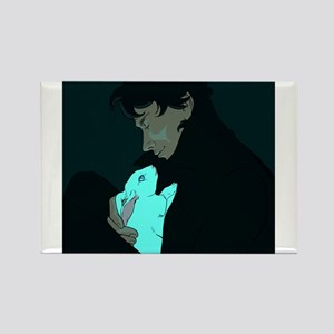Sherlock and Bluebell Rectangle Magnet