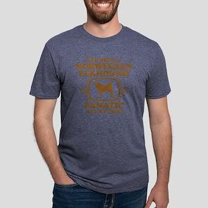 3-Norwegian-Elkhound Mens Tri-blend T-Shirt