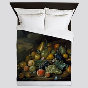Vintage Still Life of Harvest Queen Duvet