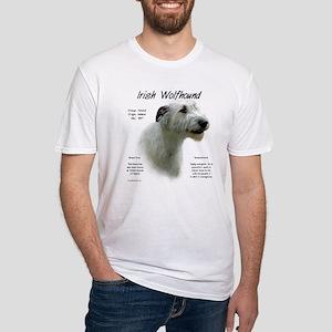 Irish Wolfhound (white) Fitted T-Shirt