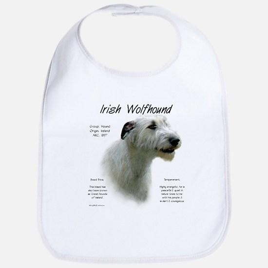 Irish Wolfhound (white) Cotton Baby Bib