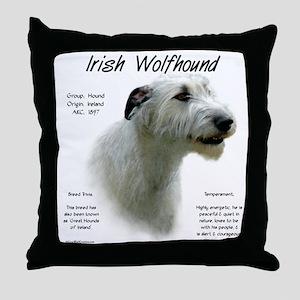 Irish Wolfhound (white) Throw Pillow