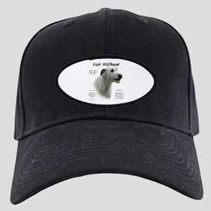Irish Wolfhound (white) Black Cap with Patch