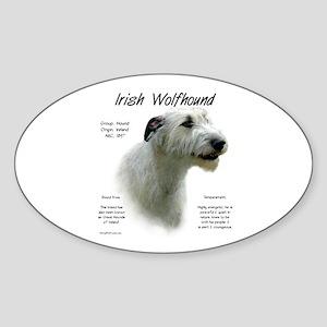 Irish Wolfhound (white) Sticker (Oval)