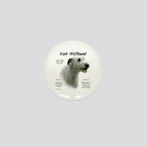 Irish Wolfhound (white) Mini Button