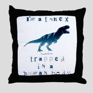 I'm a T-Rex Throw Pillow