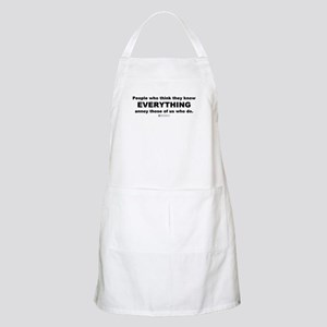 Know Everything -  BBQ Apron