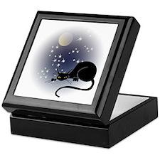 Nocturnal Black Cat II Keepsake Box