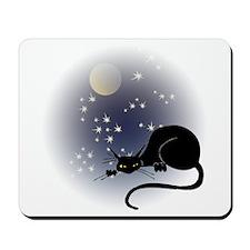 Nocturnal Black Cat II Mousepad