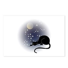 Nocturnal Black Cat II Postcards (Package of 8)