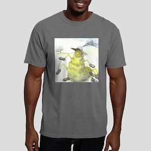 Funny Cartoon Comic Worm Mens Comfort Colors Shirt