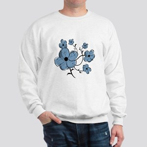 Modern fashionable black and blue floral Sweatshir