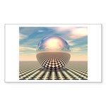 Checker Ball Sticker (Rectangle 10 pk)