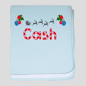 Cash, Christmas baby blanket
