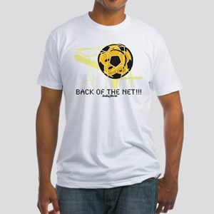 Back of the Net Smiley Fitted T-Shirt