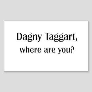 Where's Dagny Rectangle Sticker