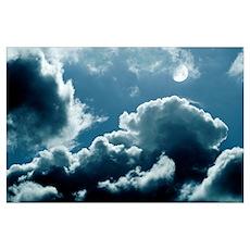 Moonlit clouds Poster