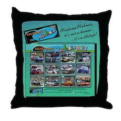 2013 MADNESS Mustang throw pillow