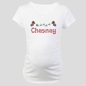 Chesney, Christmas Maternity T-Shirt