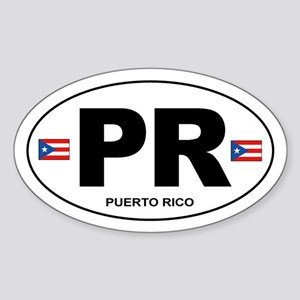 Puerto Rico - PR Sticker (Oval)