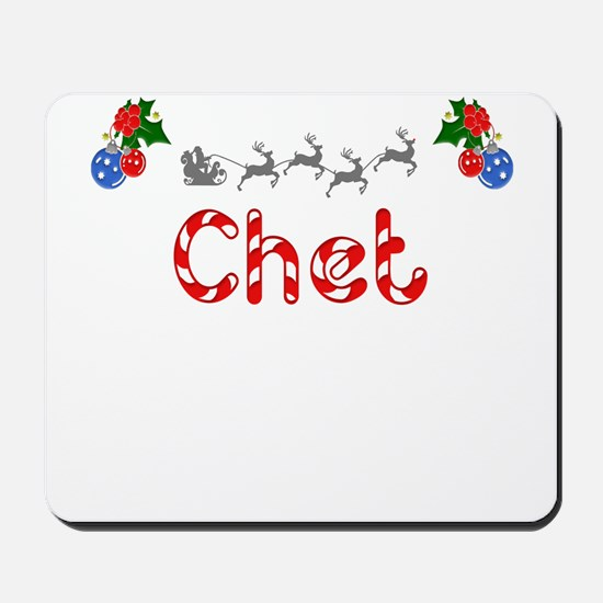 Chet, Christmas Mousepad