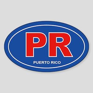 Puerto Rico - PR Sticker (Oval)