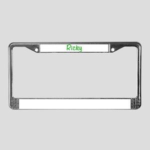 Ricky Glitter Gel License Plate Frame