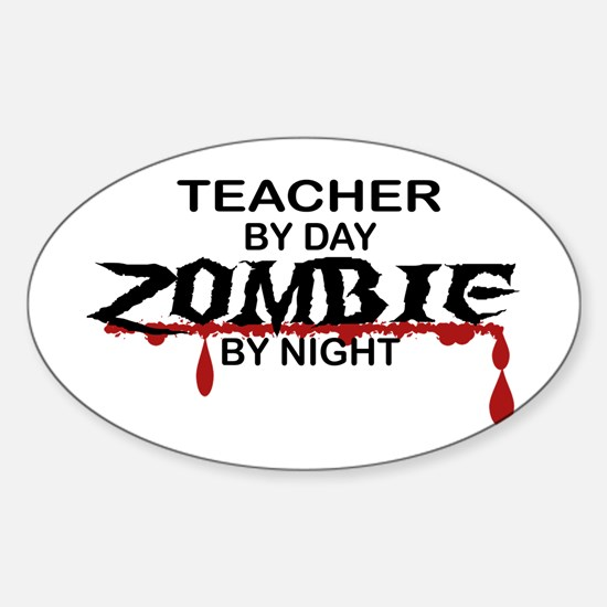 Teacher Zombie Sticker (Oval)