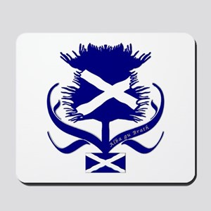 Scottish Navy Blue Thistle Mousepad