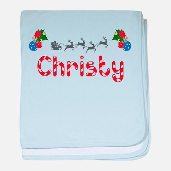 Christy, Christmas baby blanket