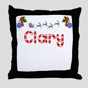 Clary, Christmas Throw Pillow