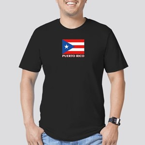 Puerto Rico - PR Men's Fitted T-Shirt (dark)