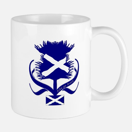 Scottish Navy Blue Thistle Mug