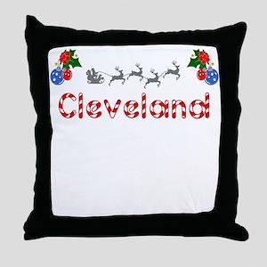 Cleveland, Christmas Throw Pillow