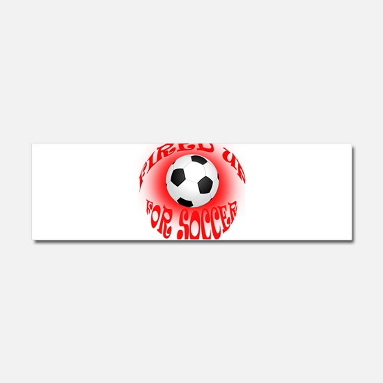 Cute Soccer dad Car Magnet 10 x 3