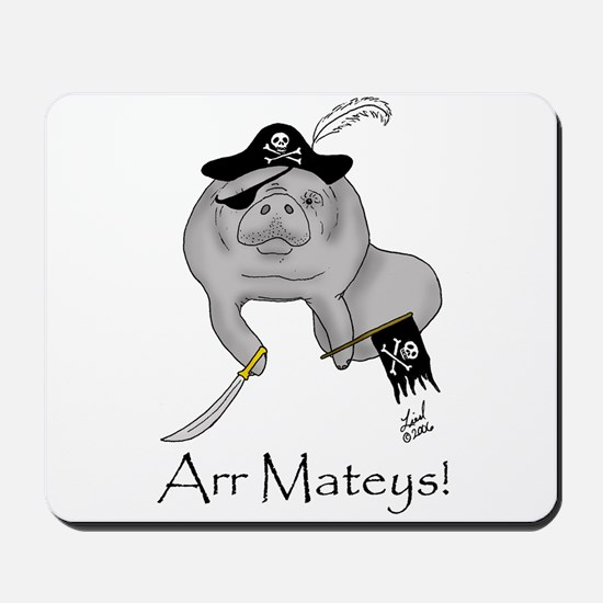 Pirate Manatee Mousepad