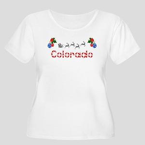 Colorado, Christmas Women's Plus Size Scoop Neck T