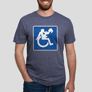 wheelchair2_blk Mens Tri-blend T-Shirt
