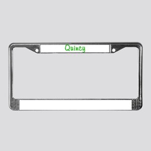 Quincy Glitter Gel License Plate Frame