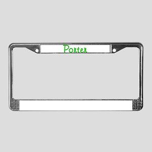 Porter Glitter Gel License Plate Frame