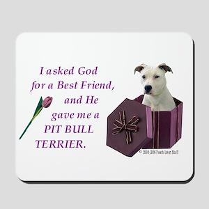 Pit Bull Terrier (White) Mousepad