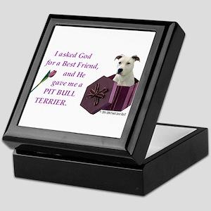 Pit Bull Terrier (White) Keepsake Box