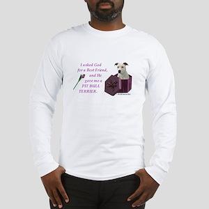Pit Bull Terrier (White) Long Sleeve T-Shirt