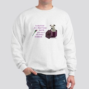 Pit Bull Terrier (White) Sweatshirt