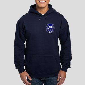 Scottish navy blue thistle Hoodie (dark)