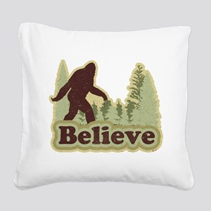 believe Square Canvas Pillow