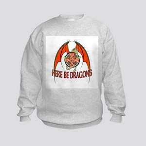 Here be Dragons Kids Sweatshirt