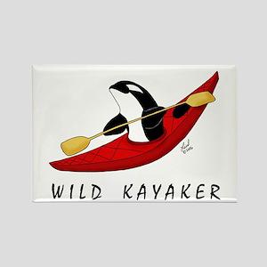 Wild Kayaker Rectangle Magnet