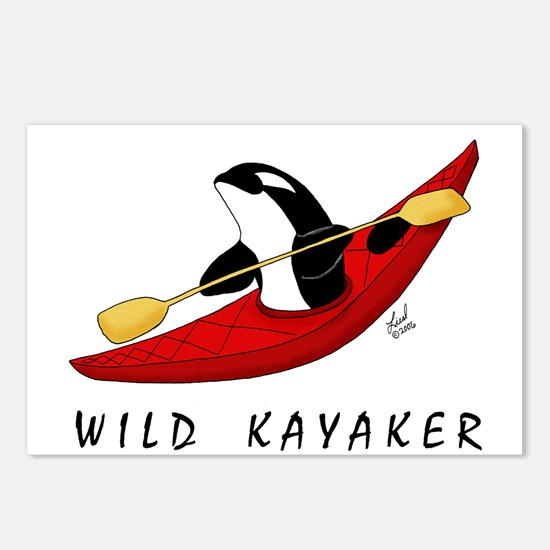 Wild Kayaker Postcards (Package of 8)