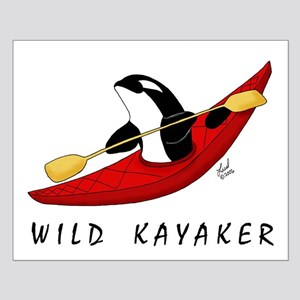 Wild Kayaker Small Poster